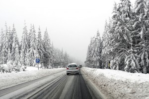 when you drive in snow, ice or rain adjust your speed