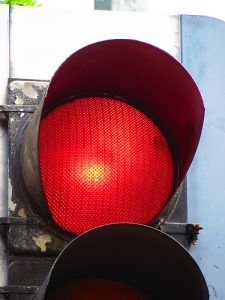 jumping through red lights is an offence that could result in the motorist's car insurance premiums increasing.